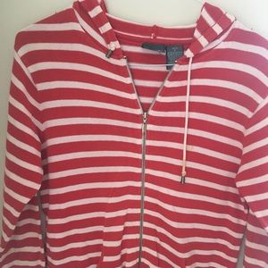 Liz Claiborne wear red white hoodie jacket size SP
